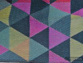 TRIANGLES DENIM, fabric quarters, jacquard, size 50cm x 70cm